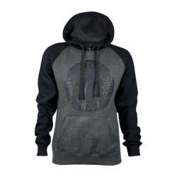 Charcoal Grey and Black Pullover Hoodie