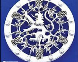Round Rampant Lion and Thistle