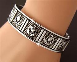 Scottish Thistle Cuff Bracelet