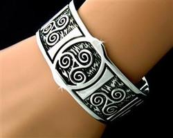 Celtic Triskele Cuff Bracelet