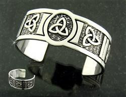 Trinity Knot Cuff Bracelet