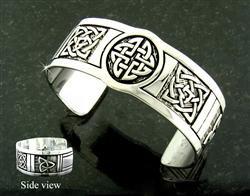 Celtic Five Knot Cuff Bracelet