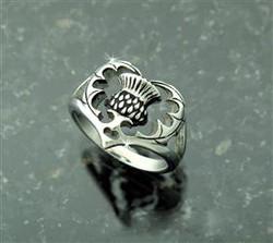 Scottish Thistle Heart Ring