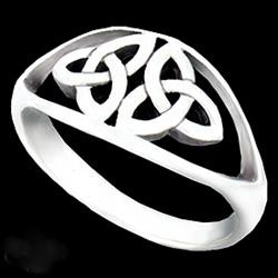 Sterling Silver Double Trinity Knot