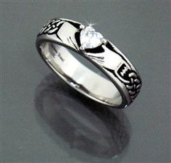 Stainless steel traditional Claddagh Ring