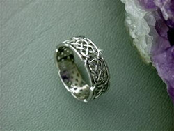 Sterling Silver Celtic Eternity Band