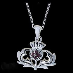 Pewter Thistle Necklace