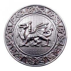 Welsh Dragon Plaid Brooch