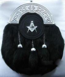 Black Masonic Sporran