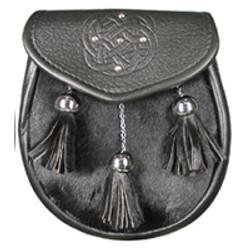 Black Semi Dress with Studded Celtic Swirl