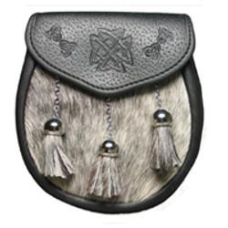Semidress Embossed Leather Sporran