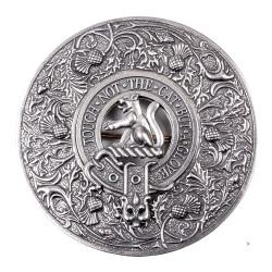 Thistle Clan Crest Plaid Brooch