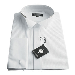 Pleated Wing Collar Shirt
