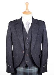 Charcoal Tweed Jacket and Vest