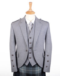 Braemar Light Grey  Arrochar Jacket and Vest