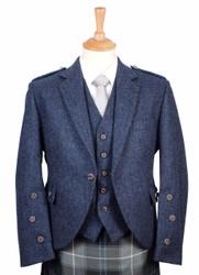 Braemar Lomond Blue Tweed Jacket and Vest