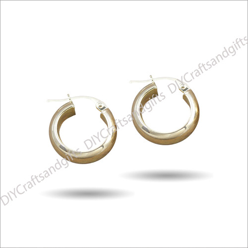9ct Yellow Gold Extra Wide Hoops 14.5mm wide & 2.5x5.75mm thick