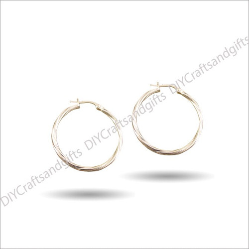 9ct Yellow Gold Hoop Earrings 28mm wide & 2mm thick