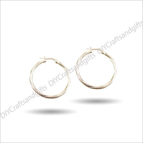 9ct Yellow Gold Hoop Earrings 34mm wide & 2mm thick