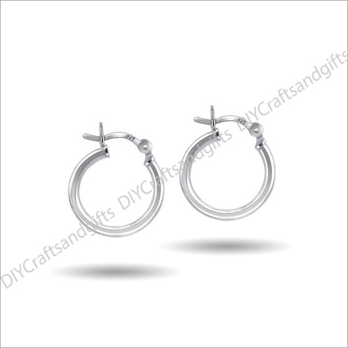 Sterling Silver 16mm Hoop Earrings 2.25x16mm