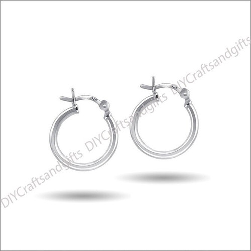 20mm Sterling Silver Hinged Hoop Earring with 3mm Tube