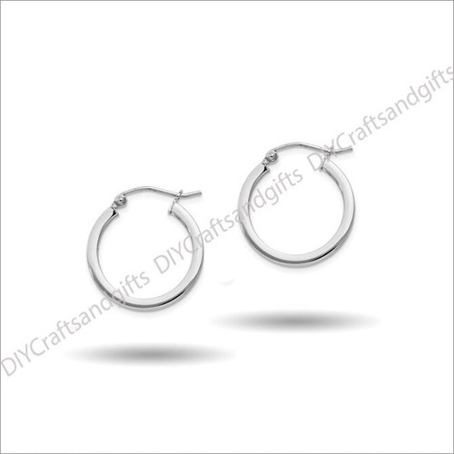 Sterling Silver 20mm Square Tube Hoop Earrings 2.5x20mm