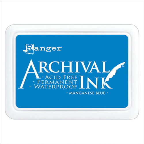 Archival Inks provide lasting stamping results that are permanent on many surfaces. Get a crisp image that doesn't bleed over water-based inks and markers, acrylic paint, water colours, Tim Holtz Alcohol Ink or Perfect Pearls™ pigment powders.• Acid free• Non-toxic• Water Resistant• Permanent on matte and gloss papers• Air dries on matte surfaces• Heat set on glossy surfaces• Reinker available