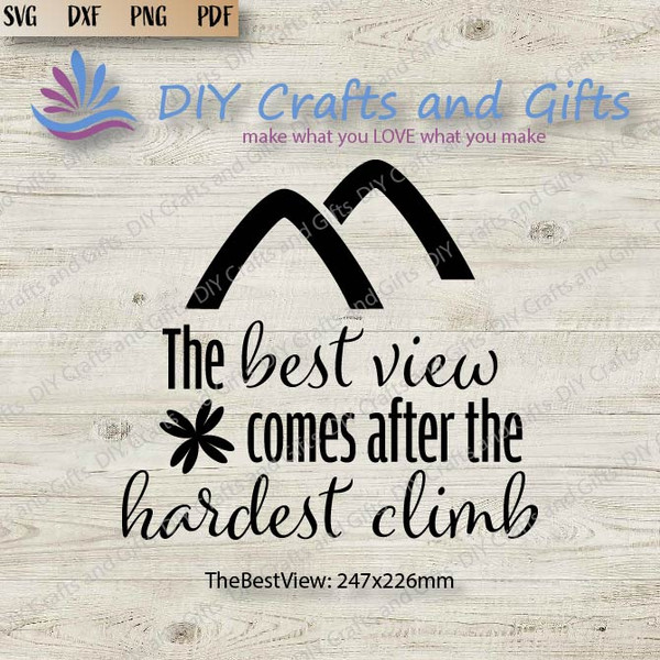 The Best View Comes After the Hardest Climb Cut File