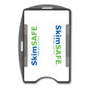 gray SkimSAFE dual card RFID shielded card and badge holder with universal vertical and horizontal attachment points FIPS201 approved