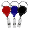 152064 Badge reels with carabiner clip and no-twist feature