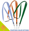 Fabric lanyard with safety breakaway and steel swivel j hook, 3/8 inch