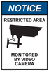 """notice restricted area sign 7"""" x 10"""""""