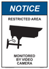 """notice restricted area sign 10"""" x 14"""""""