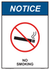 "notice no smoking sign 10"" x 14"""
