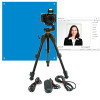 ID Card Digital Capture Kit with Camera Backdrop Flash and Tripod