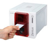 The Zenius card printer can print single or multiple cards