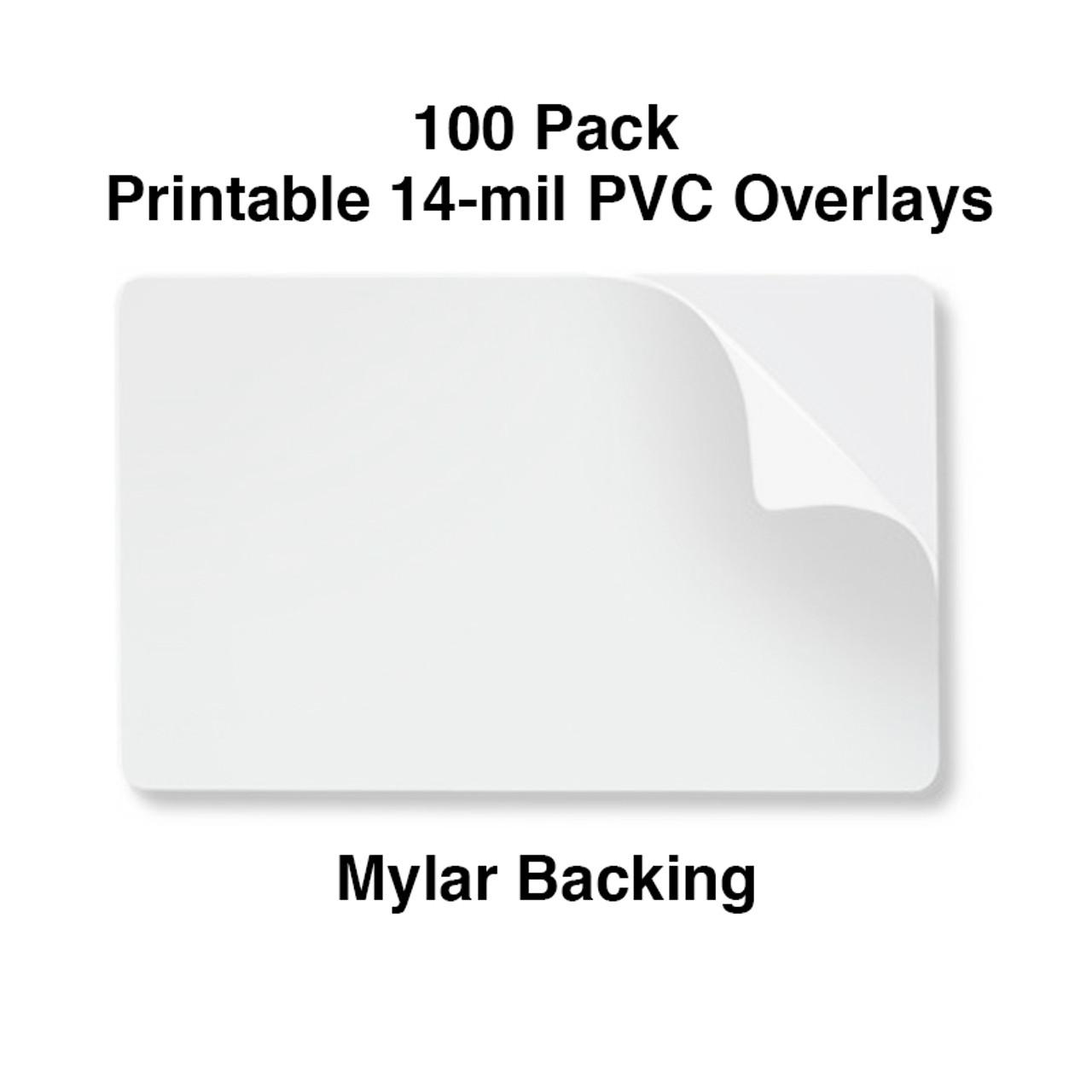 PVC Overlay - CR80 - 10Mil - 14 Mil Mylar Peel Off