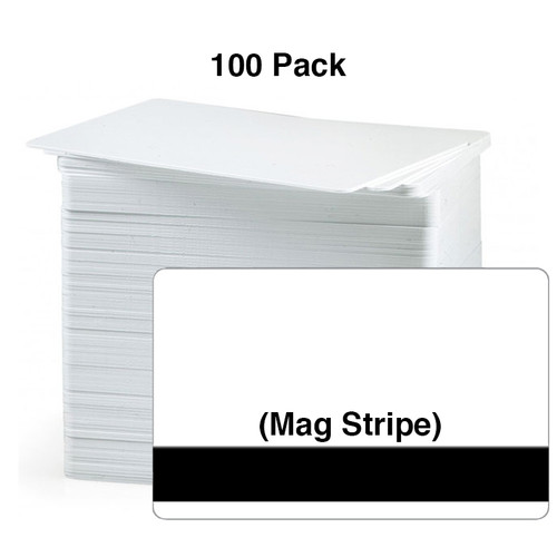 PVC Card - CR80 -Grade - HiCo Stripe - 30 Mil Image-White