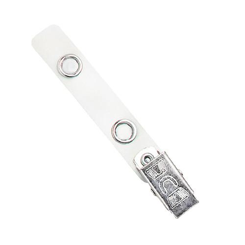 white mylar strap clip msc badge clip