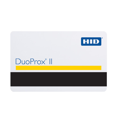 HID Duoprox  II 1336 cards printable with High Coercivity magnetic stripe.