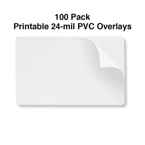 24 mil printable CR80 PVC overlay