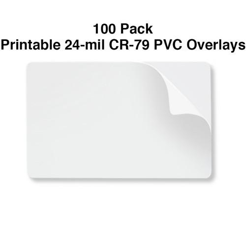 24 mil printable CR79 pvc overlay