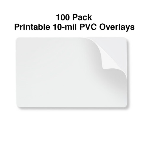 10 mil printable pvc adhesive overlay
