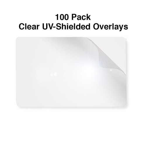 clear overlay cr-79 size UV adhesive shield