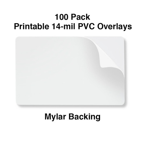 10 mil pvc printable overlay with 14 mil mylar backer