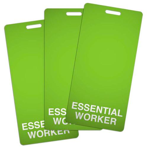Essential Worker Badge Backer Buddy Vertical Pack of 25