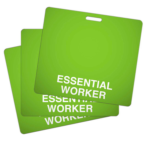 Badge Backer Horizontal Essential worker pack of 25