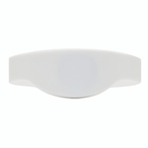 RFID silicone wristband with prox chip - front view - white