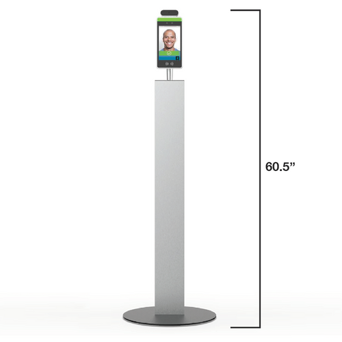temperature sensing kiosk for front lobby self-check shown on stand