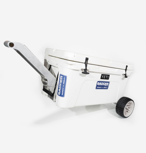 Badger Handle on Tundra 65 Qt with Badger Wheels Axle - Large Wheels